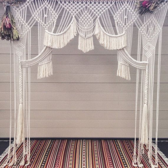 Telón de fondo de novia Macrame colgante de pared / por PrettyKooky