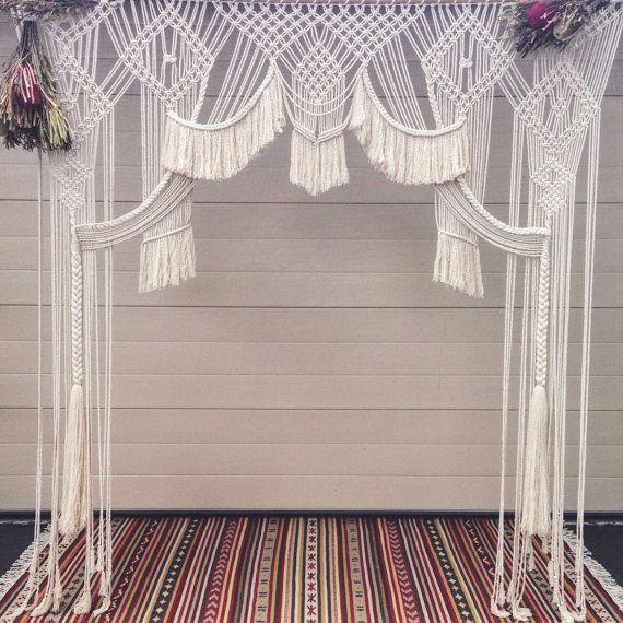 Makramee Hochzeit Kulisse Wandbehang / Fenster von PrettyKooky