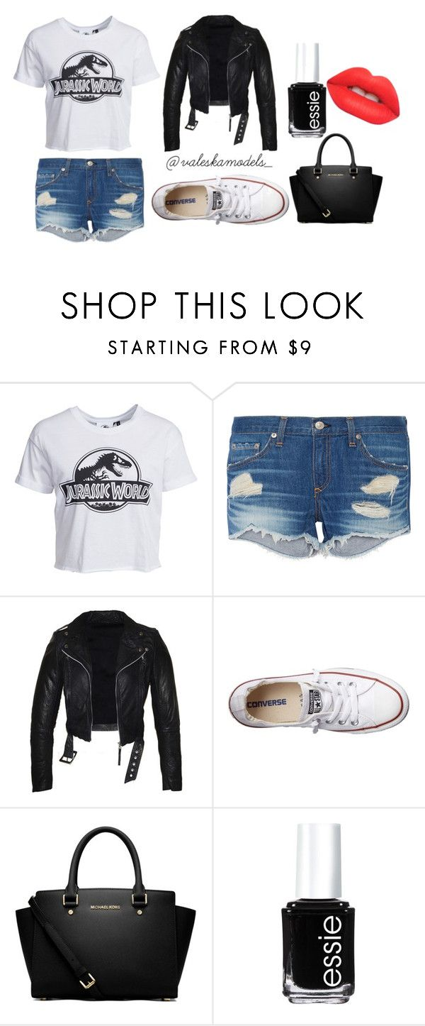 """Grunge Saturday"" by valeska-models on Polyvore featuring moda, New Look, rag & bone, Converse, MICHAEL Michael Kors, Essie, Lime Crime y outfitoftheday"