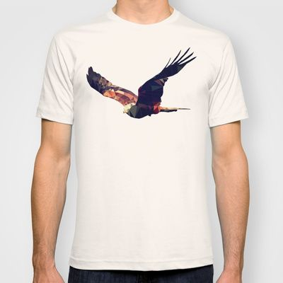 Triangular hawk T-shirt by Matěj K. Jirásek – $22.00