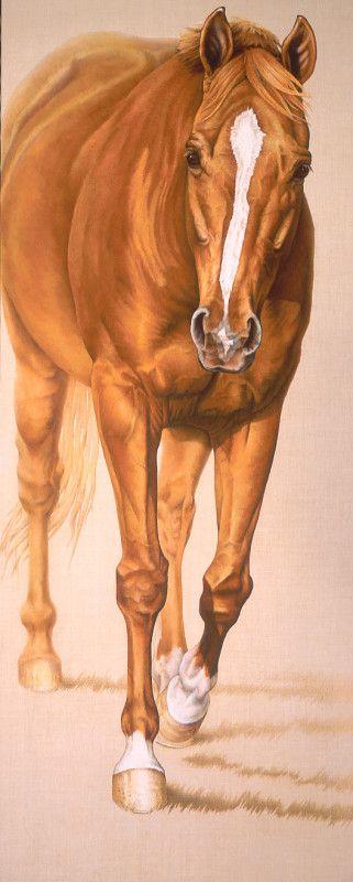 Horse Art - title Chestnut Horse - painted by Susan Van Wagoner