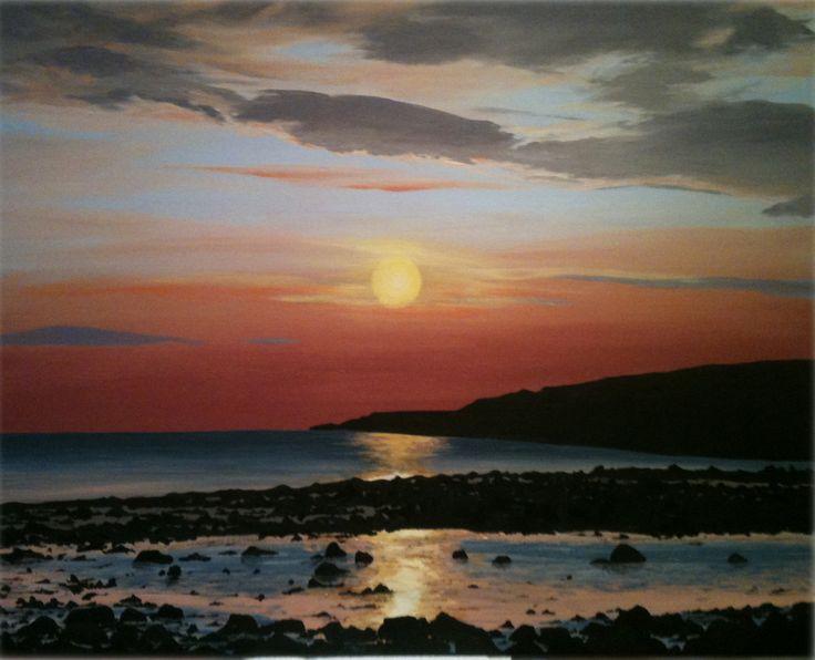 Acrylic painting of beautiful Gairloch, Scotland www.katiestewartart.co.uk