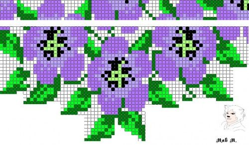 Мозаика с бахромой