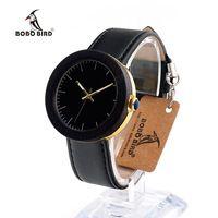 Bobo bird j26 relojes mujer женские часы лучший бренд класса люкс золотые Часы Нижний Каркас Простой Стиль Кварцевые Наручные Часы Montre Femme OEM