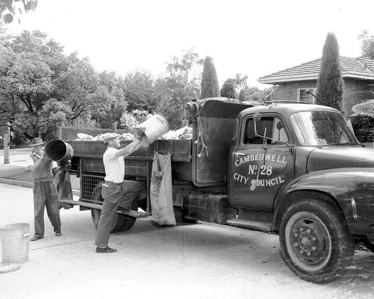 Garbage collection Camberwell City Council, Victoria. Circa 1960's