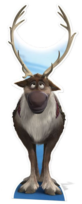 Life size stand up depicting Disney's Sven the reindeer from Frozen. Great for any children's or Disney themed party.