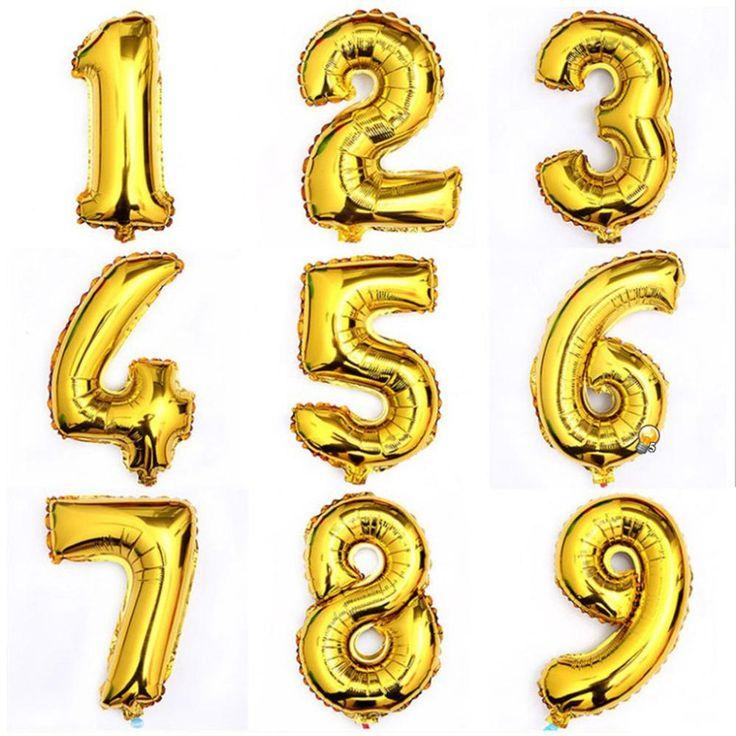 Купить товар1 шт. 16 дюймов золото 0   9 цифровой рисунок количество шар алюминиевой фольги гелиевых шаров день рождения свадебная ну вечеринку украшения праздник в категории События и праздничные атрибутына AliExpress.             1 шт. 16 дюймов золото 0-9 цифровой НОМЕР ШАР алюминиевой фольги гелиевые шары День рождения, Свадьба украше