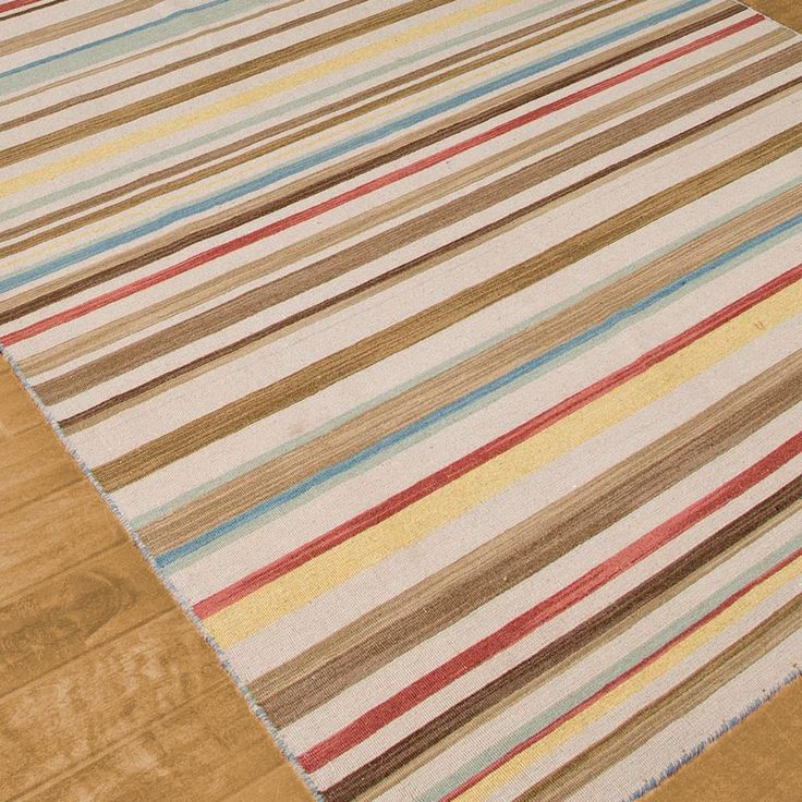 multi color terrestial stripes dhurrie rugs 4 choices
