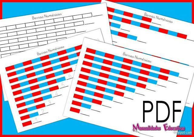Barras Numericas pequeñas Montessori (con material imprimible) | Creciendo con Montessori
