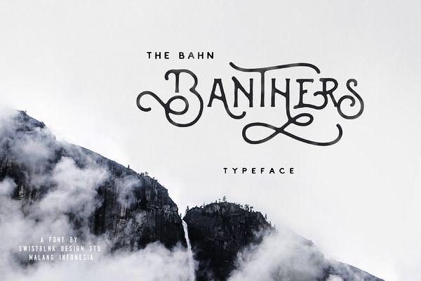 Banthers Typeface by Swistblnk Design Std. on Creative Market