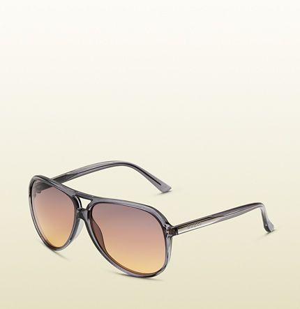grey aviator sunglasses--Gucci