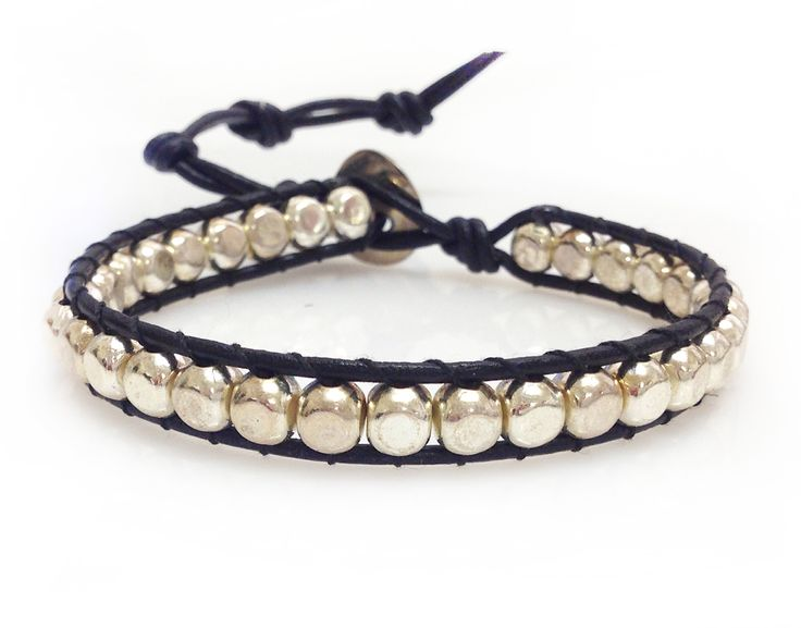 Liane Landman Flat Pewter Bracelet.