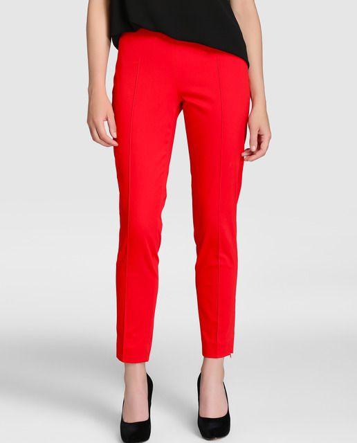 Pantalón pitillo de mujer Elogy en color rojo