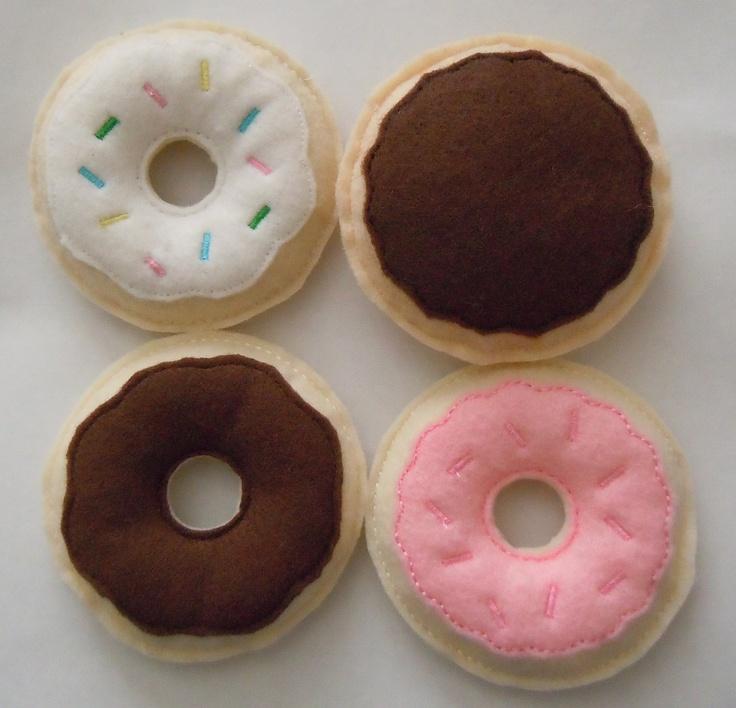 Felt Play Food Donuts