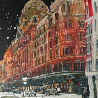 Susan BROWN - Harrods, London - Paintings of #London by British artists at the #redrag art gallery.