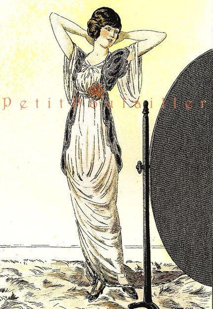 1979 la belle epoque paris fashion lithographs pl 25 6 paris pinterest. Black Bedroom Furniture Sets. Home Design Ideas