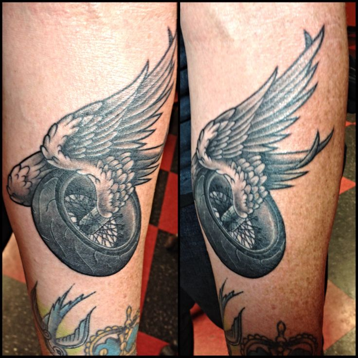 Motorcycle Heartbeat Tattoo: Winged Wheel Art: 10+ Handpicked Ideas To Discover In