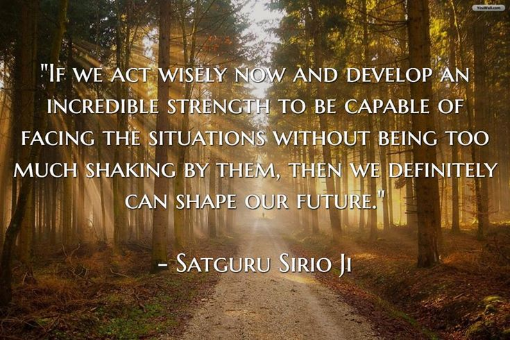 """If we act wisely now and develop an incredible strength to be capable of facing the situations without being too much shaking by them, then we definitely can shape our future."" 