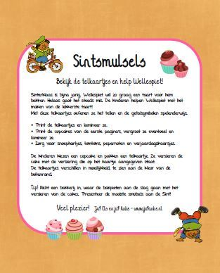 sinterklaasjournaal 2016 telkaartjes cake kleuters