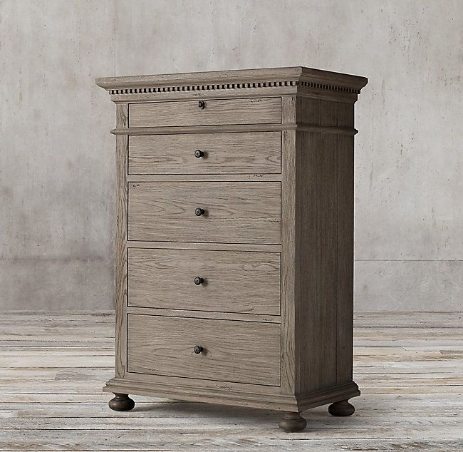 RH's St. James 5-Drawer Narrow Dresser:Evoking the architectural classicism of turn-of-the-century design, St. James is grand in both scale and beauty.