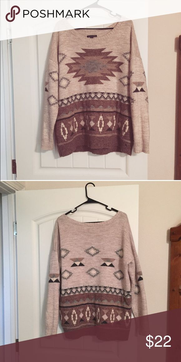 AEO tribal print sweater American Eagle Outfitters tribal print sweater. Size XL. Has only been worn once! American Eagle Outfitters Sweaters