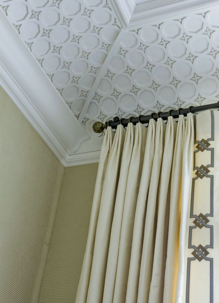 love the addition of the trim on the front of the draperies - laurel home blog - laurel bern interiors
