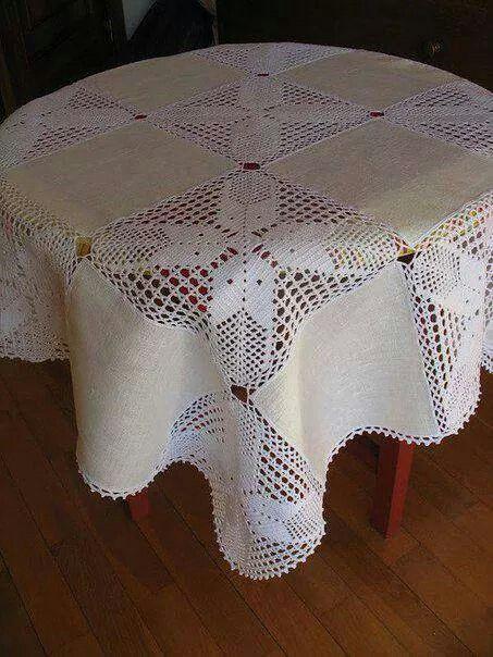 Tina mantel 1 de 3 patrones en tejido crochet fotos y - Mantel de crochet ...