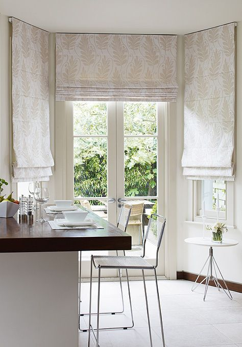 We offer a wide choice of fabrics and finishes for our Roman blinds.