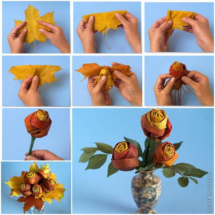 Creative Ideas – DIY Pretty Maple Leaf Rose | iCreativeIdeas.com Follow Us on Facebook --> https://www.facebook.com/iCreativeIdeas