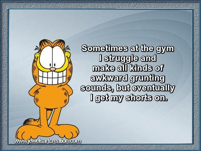 funny comments, gym quotes, Garfield quotes, fun posts, funny quotes