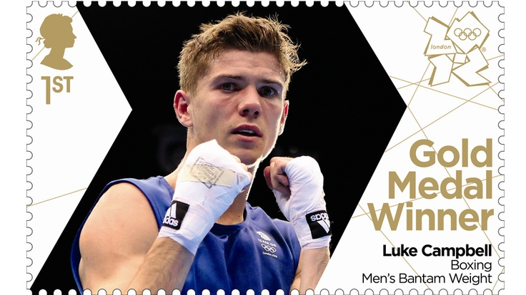 Luke Campbell, British Olympic gold medalist boxer, London 2012, Royal Mail postage stamp issued in 2012