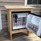 Dorm fridge turned Outdoor refrigerator