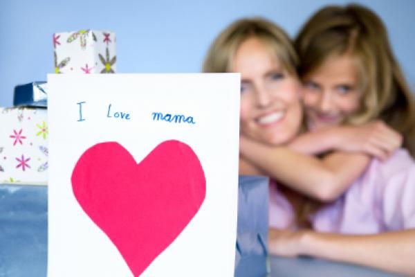 Mother and daughter with gifts for Mother Day at http://amzn.to/1RkagAG