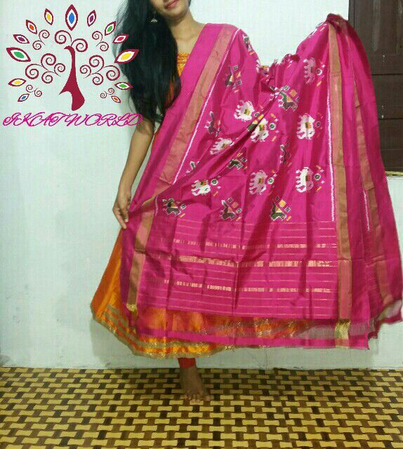 Pochampally silk dupatta
