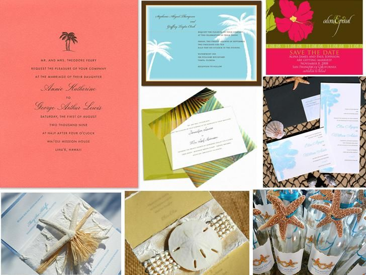 482 Best Tropical Wedding Ideas Images On Pinterest: 16 Best Images About Creative Beach Theme Invitations On