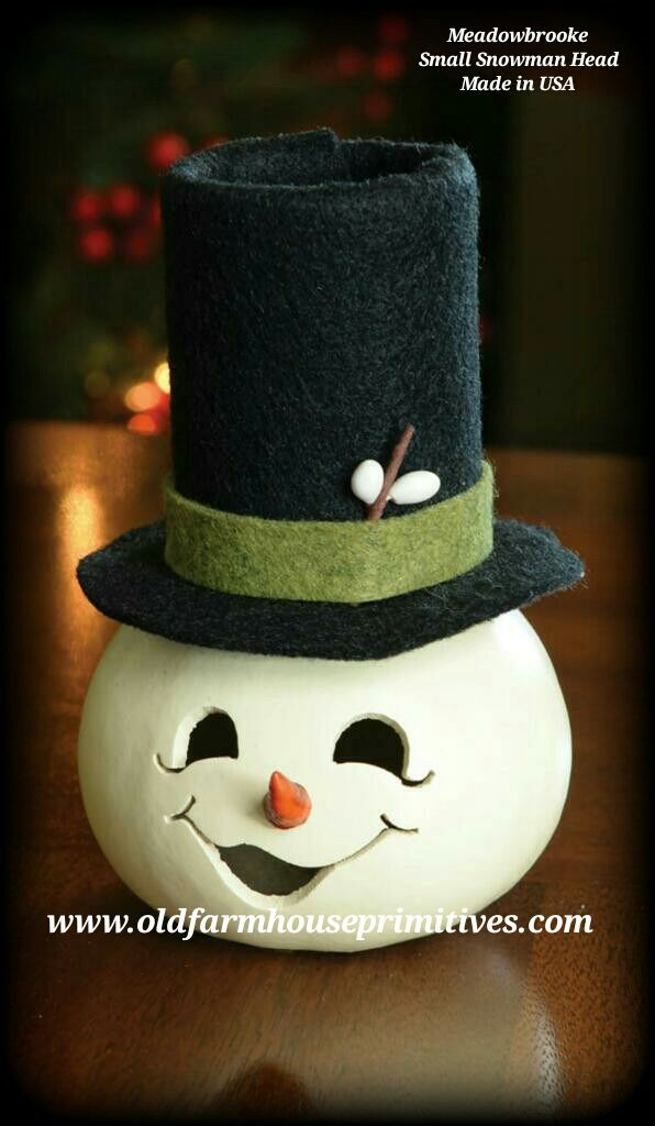Meadowbrooke Gourds Small Snowman Head (Made In USA)