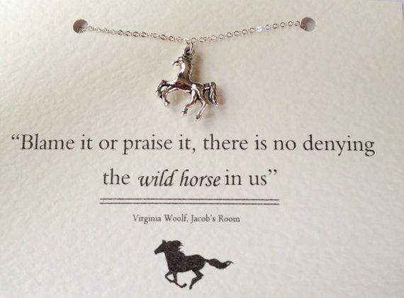 Virginia Woolf Wild Horse Necklace by LiteraryEmporium on Etsy, £12.00