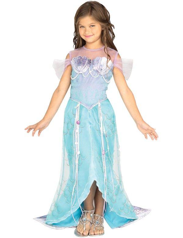 Zeemeermin Prinses Meisje Kostuum Lang