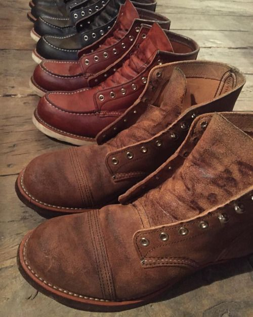 #loveontheweekend - Marc Perso is taking care of his Red Wing Shoes during the weekend. When and how many times do you take care of your boots? We recommend to condition your boots every 3 months, just remember to look after them every season! -...