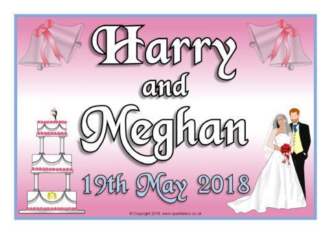 Royal Wedding 2018 Harry And Meghan Display Posters Sb12461