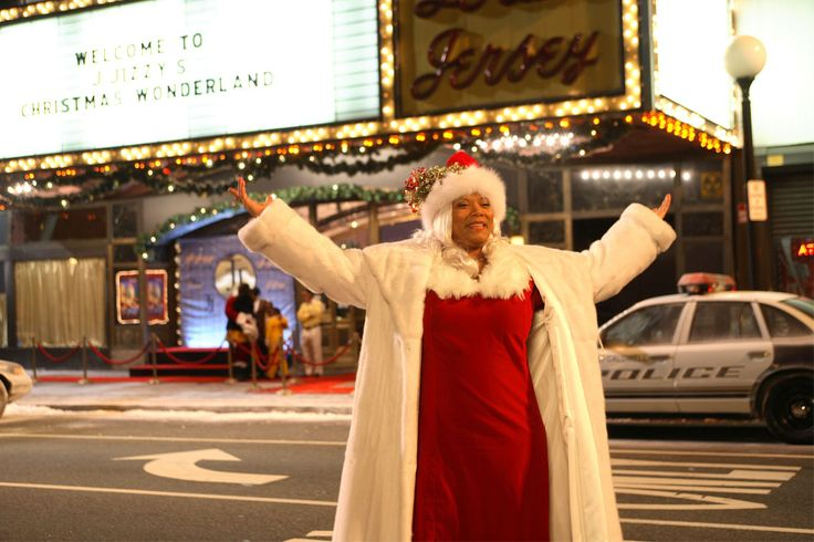 Mrs. Christmas (Queen Latifah) keeps the Christmas vibe alive