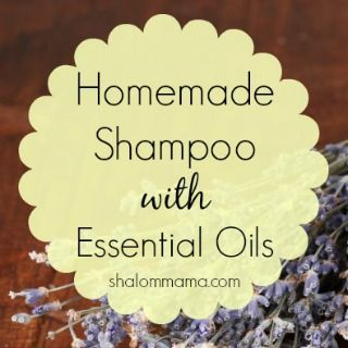 This homemade shampoo with essential oils is super easy to use and can be customized for different hair types/scalp conditions.