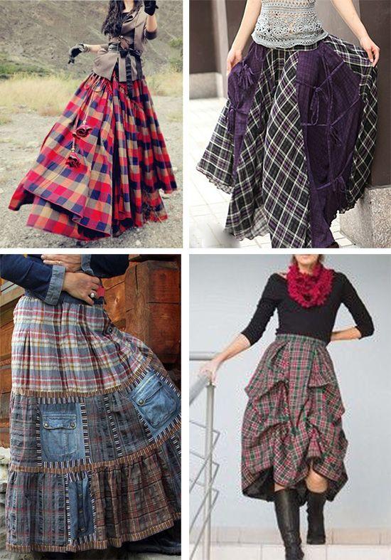Клетчатые юбки