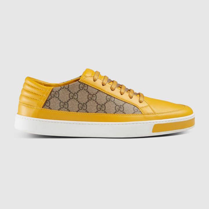 Gucci Herren - Low-Top Sneaker aus GG Supreme und Leder - 386752A9LN07060