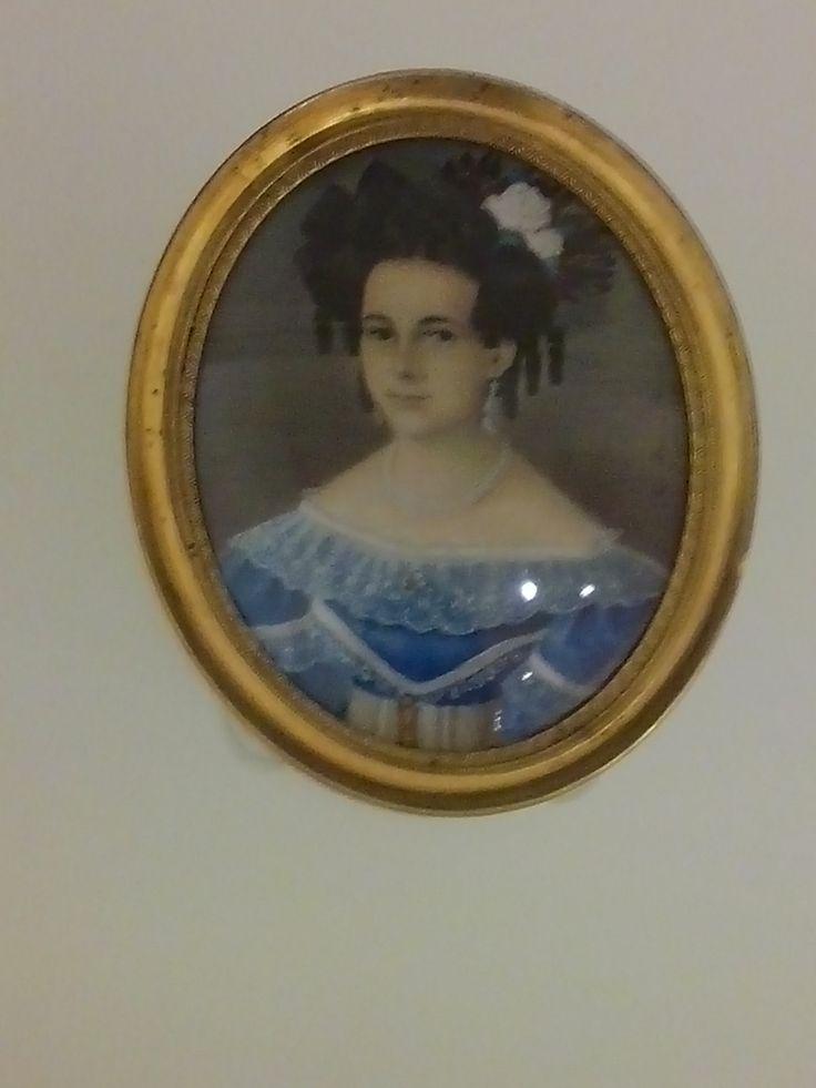 ramon torres mendez bogota 1809-1885 retrato de eduviges vanegas y contreras  siglo XIX  acuarela sobre marfil