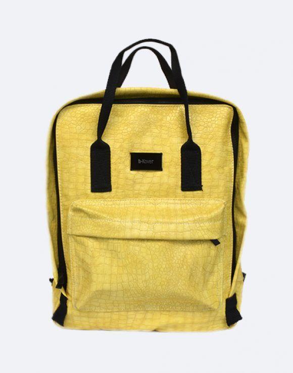 mochila croco amarillo