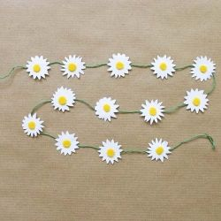 Make daisy chains that are just as pretty as real flowers but last a lot longer!