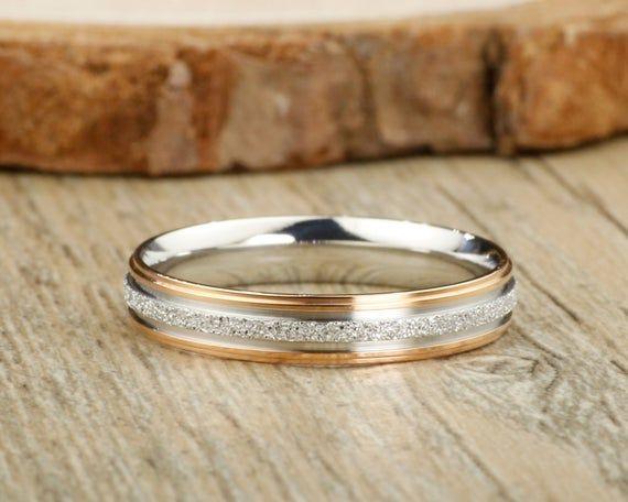 Couple Ring Handmade Customize Gold  Promise Ring Wedding Band Women Ring Anniversary Ring Titanium Ring