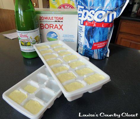 Homemade Dishwasher Detergent Cubes  #LouisesCountryCloset