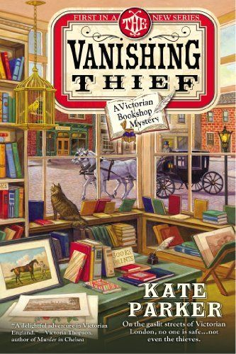 The Vanishing Thief (A Victorian Bookshop Mystery) by Kate Parker, http://www.amazon.com/dp/0425266605/ref=cm_sw_r_pi_dp_Mnaasb0YCD9K3
